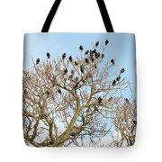 Starlings For Leaves - Sturnus Vulgaris Tote Bag