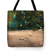 Starry Beach Night Tote Bag