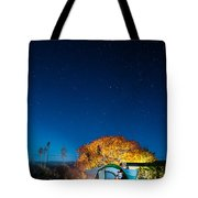 Starry Camp Fire Tote Bag