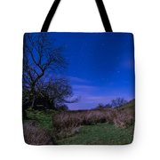 Starry Night Above Hadrians Wall Tote Bag