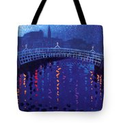 Starry Night In Dublin Tote Bag
