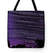 Starry Night In Ithaca New York Star Trail Photography Tote Bag