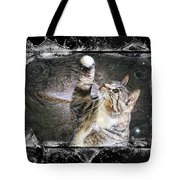 Starry Night Kitty Style Splash Tote Bag