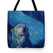 Starry Night Van Gogh Bear Tote Bag