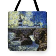 Starry Hook Head Lighthouse Tote Bag