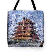 Starry Starry Pagoda Night Tote Bag