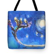 Starry Tree Tote Bag by Pixel  Chimp