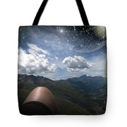 Stars And Planets In A Valley Tote Bag