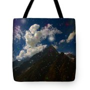Stars And Planets On Mont Blanc Tote Bag