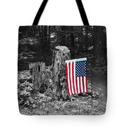Stars And Stripes With Selective Color Tote Bag