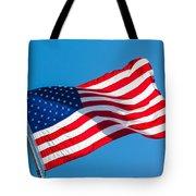 Stars And Stripes Waving Tote Bag