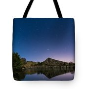 Stars Reflect In Cawfield Quarry Tote Bag