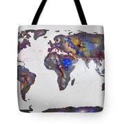 Stars World Map Tote Bag