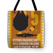 Starschips 05-poststamp -star Wars Tote Bag by Chungkong Art