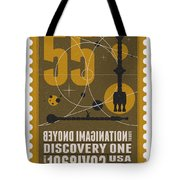 Starschips 55-poststamp -discovery One Tote Bag by Chungkong Art