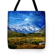 Stary Night Over Highlands Tote Bag