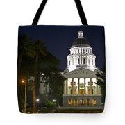 State Capitol At Night Sacramento Tote Bag