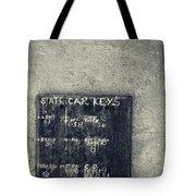 State Car Keys Tote Bag