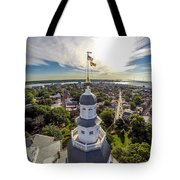 State House Beauty Over Annapolis Tote Bag