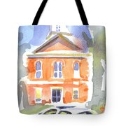 Stately Courthouse With Police Car Tote Bag