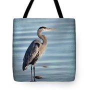 Stately-great Blue Heron Tote Bag