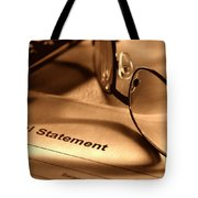 Statement With Glasses Tote Bag