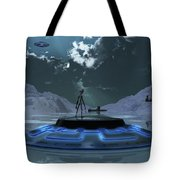 Station 211 Alien Nazi Base Located Tote Bag