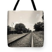 Station In The Distance Tote Bag