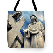 Station Of The Cross  Tote Bag