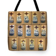 Stations Of The Cross Collage Tote Bag