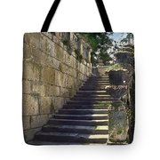 Statue And Stairs Tote Bag