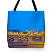 Statue And Street Lamp Tote Bag