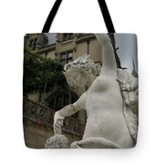 Statue At Biltmore Estate Tote Bag