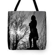 Statue At Dusk Tote Bag