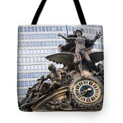 Statue At Grand Central Station Tote Bag