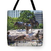 Statue At The Capital In Austin Tx  Tote Bag
