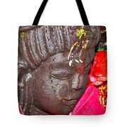 Statue At The Vishwanath Temple - India Tote Bag