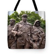 Statue Depicting Glory Of Chinese Communist Party Shanghai China Tote Bag