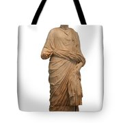 Statue Of A Roman Priest Wearing A Toga Tote Bag