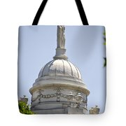 Statue Of Justice On Top Of New York City Hall Tote Bag
