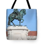 Statue Of King Jose I In Lisbon Tote Bag
