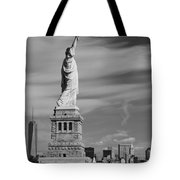 Statue Of Liberty And The Freedom Tower Tote Bag
