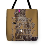 Statue Of Liberty Being Built 1876-1881 Paris Collage Pierre Petit                     Tote Bag