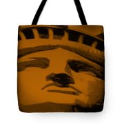 Statue Of Liberty In Orange Tote Bag