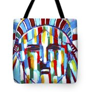 Statue Of Liberty With Colors Tote Bag