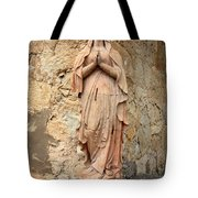 Statue Of Mary In Mission Garden Tote Bag