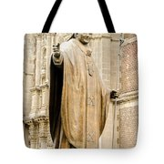 Statue Of Pope John Paul II Tote Bag