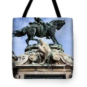 Statue Of Prince Eugene Of Savoy In Budapest Tote Bag