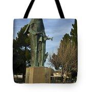 Statue Of Saint Clare Santa Clara Calfiornia Tote Bag