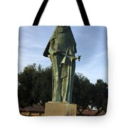 Statue Of Saint Clare Santa Clara California Tote Bag
